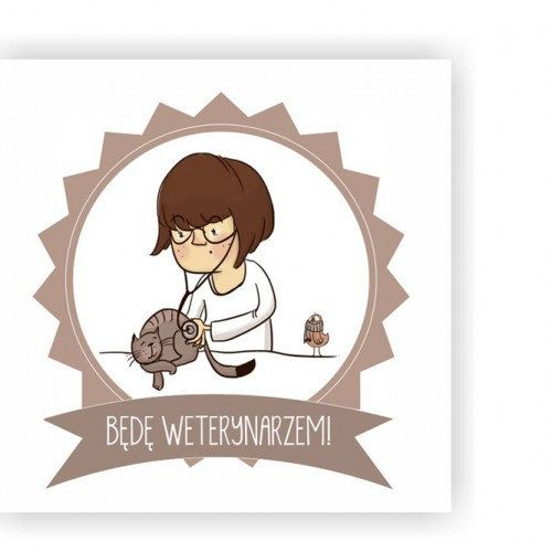 Framed Illustration with Kids Dreams Veterinarian by Burr!