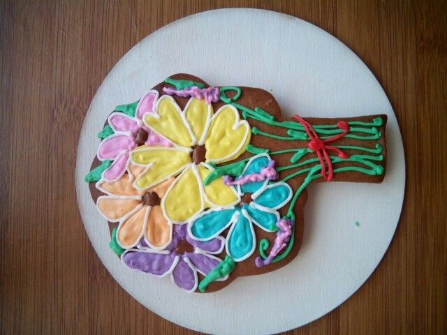 Flowers gingerbread