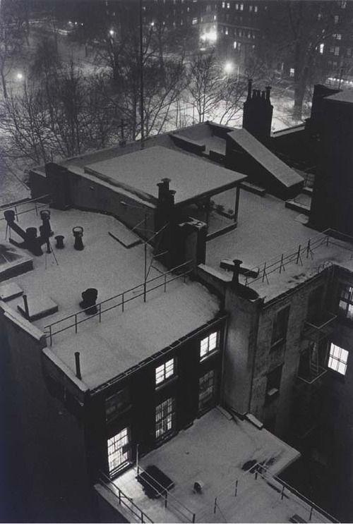 crashinglybeautiful:  André Kertesz, Roof Top Views, New York, 1958