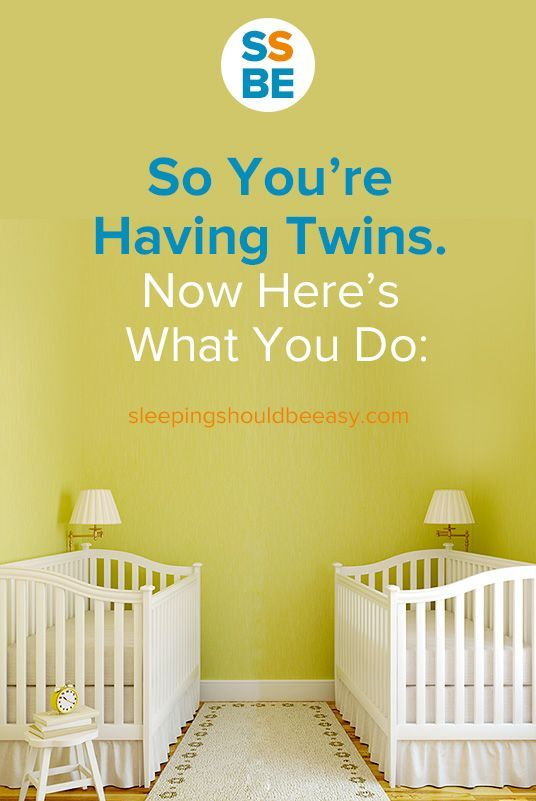 So you're having twins. Congratulations! Now here's what you have to do to prepare for your double arrival.