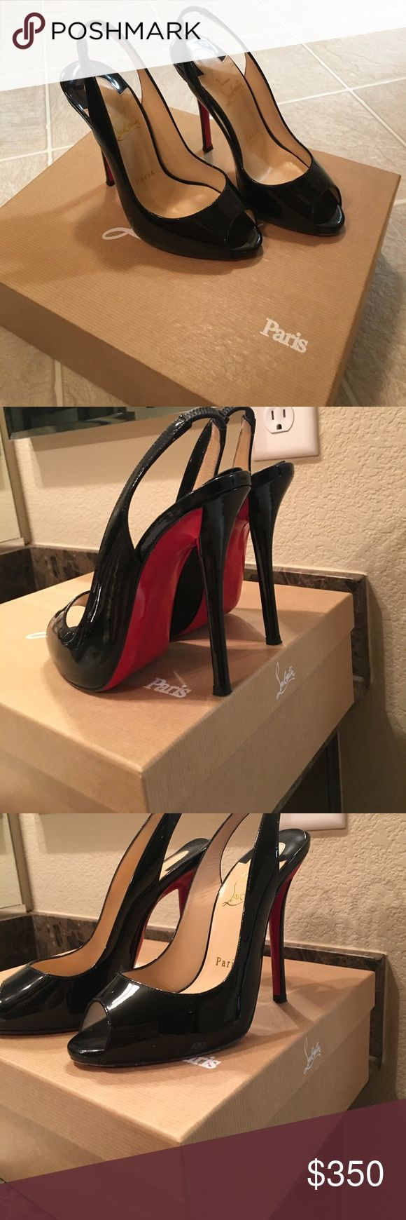 gently used christian louboutin shoes