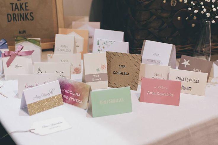 Wedding place card made by Cudowianki. / Winietki wykonane przez Cudowianki.