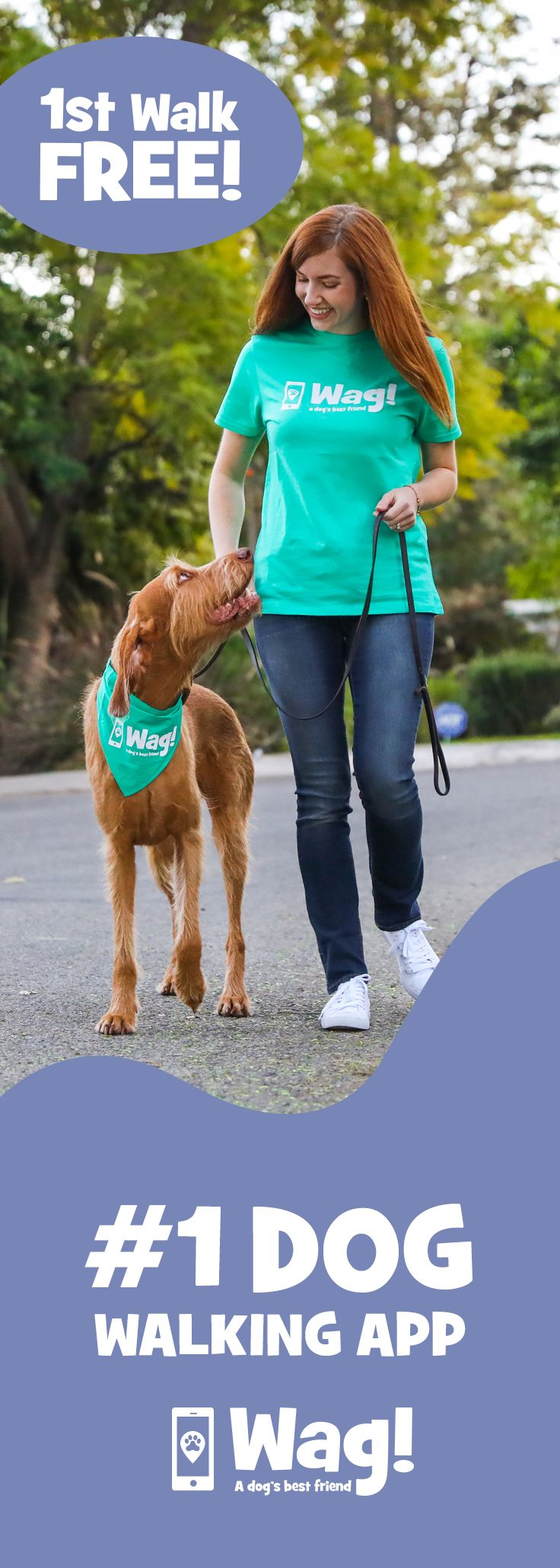 Find the best dog walkers near you! 1st walk FREE (20