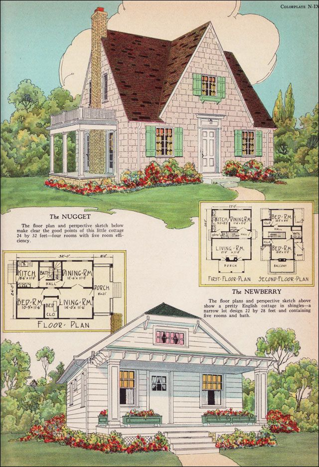 Radford house plans 1925 nugget and newberry small for American home floor plans