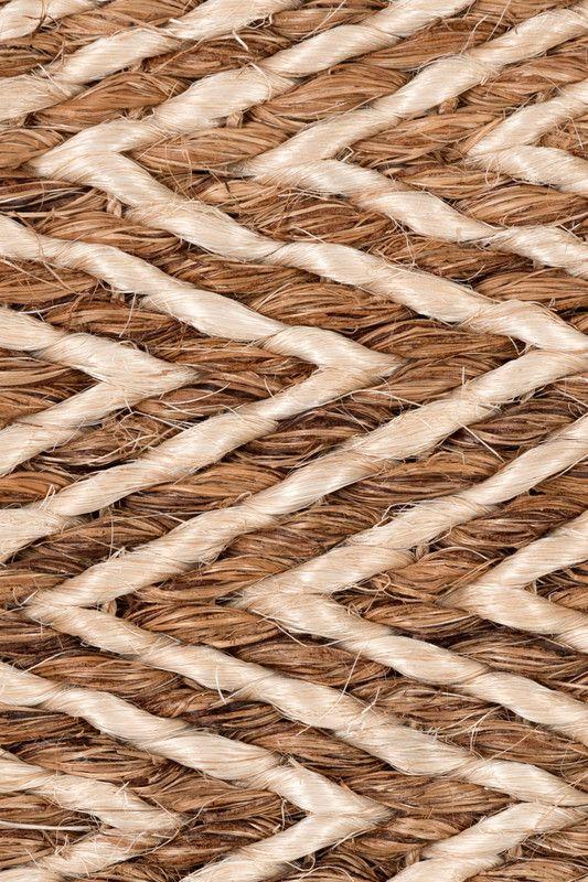 Mindoro handwoven abaca rug in Cinnamon colorway, by ...