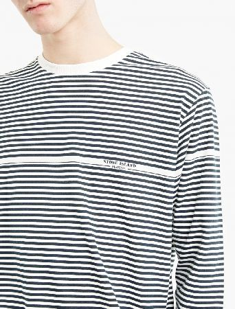 Stone Island Striped Cotton Marina T-Shirt The Stone Island Striped Cotton Marina T-Shirt for SS17, seen here in navy and white. - - - This archival-inspired long-sleeved t-shirt from Stone Island is crafted from premium cotton and cut to offe http://www.MightGet.com/march-2017-2/stone-island-striped-cotton-marina-t-shirt.asp