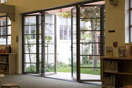 Bifold patio doors - Love them! Will be installing in living room and bedroom...one day.