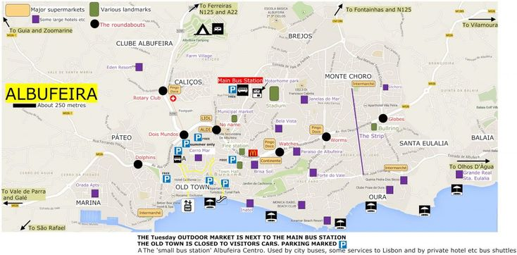 Route map Albufeira