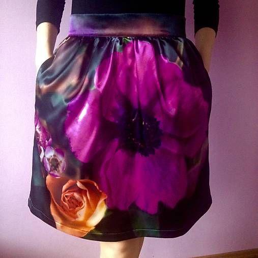 LuxuryCouture / Saténová sukňa - maxikvet