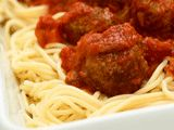 Spaghetti with My Mamas Meatballs Recipe : Food Network- a low calorie full flavor dish