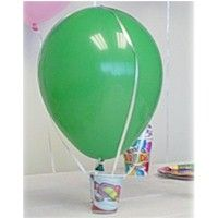 Hot Air Balloon is a fun way to decorate and hold party favors for a birthday party. www.freekidscrafts.com