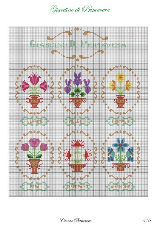 17 mejores im genes sobre punto de cruz flores en - Punto jardin ...