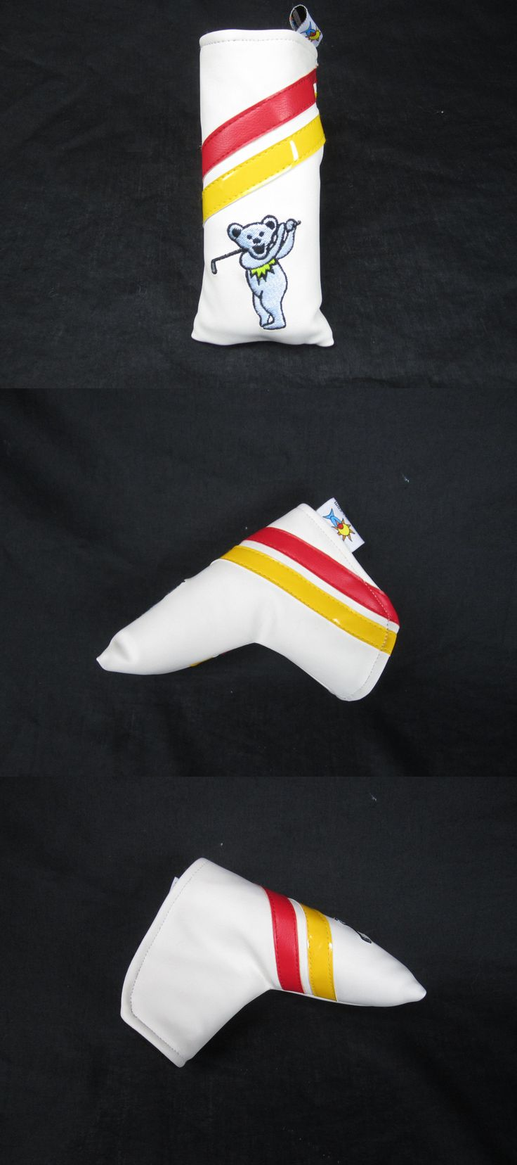 Club Head Covers 18930: Sunfish Leather Blade Putter Golf Headcover - Grateful Dead Dancing Bears -> BUY IT NOW ONLY: $34.99 on eBay!
