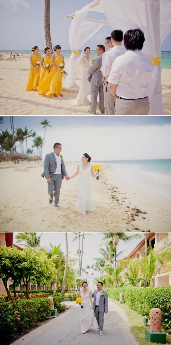 Dominican Republic Wedding from Kristin La Voie Photography, bride's dress: Robert Bullock Bride