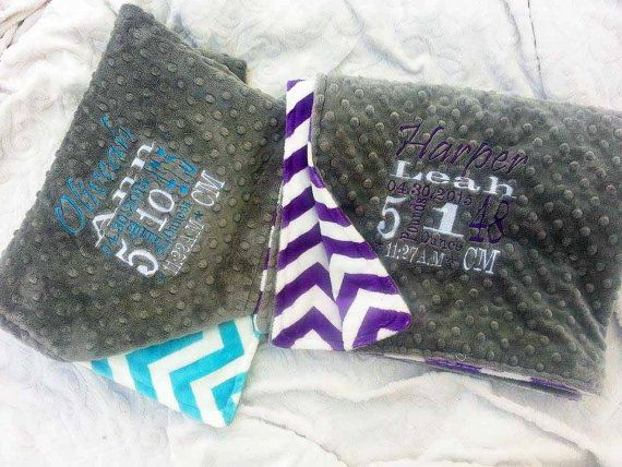 Personalized Blanket  Personalized baby blanket  by KnuffelStuff
