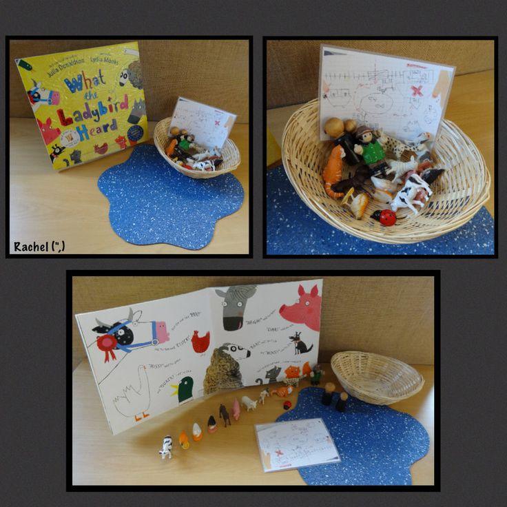 "What the Ladybird Heard story basket from Rachel ("",)"