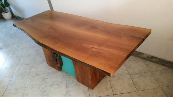 Rustic Kitchen Table  Live Edge furniture