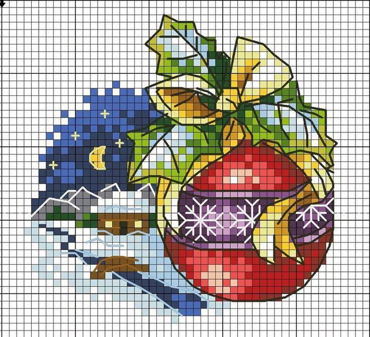 temas natalino graficos ponto cruz