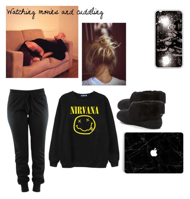 Movies and cuddling by sabrina-carreiro on Polyvore featuring polyvore, fashion, style, Chicnova Fashion, UGG Australia, Burton and clothing