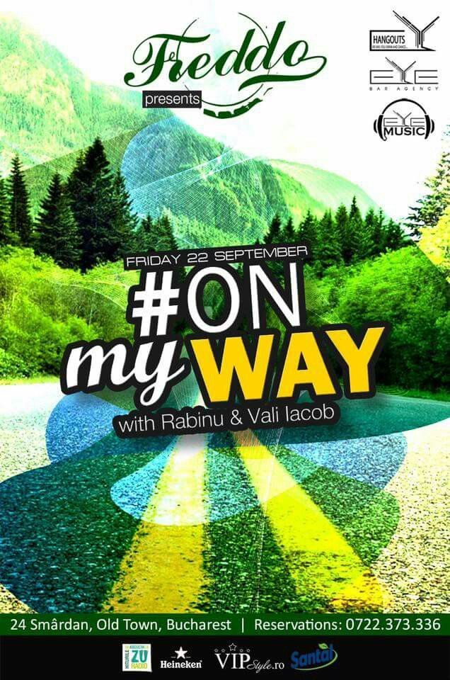 TONIGHT!!! 22:30, #ONmyWAY with Dj Rabinu & Dj. Vali Iacob at Freddo Bar & Lounge.🔝🎧🍾✔ #Eyemusic #Eyebaragency #Dj #RABINU #ValiIacob #Freddo #Smardan24