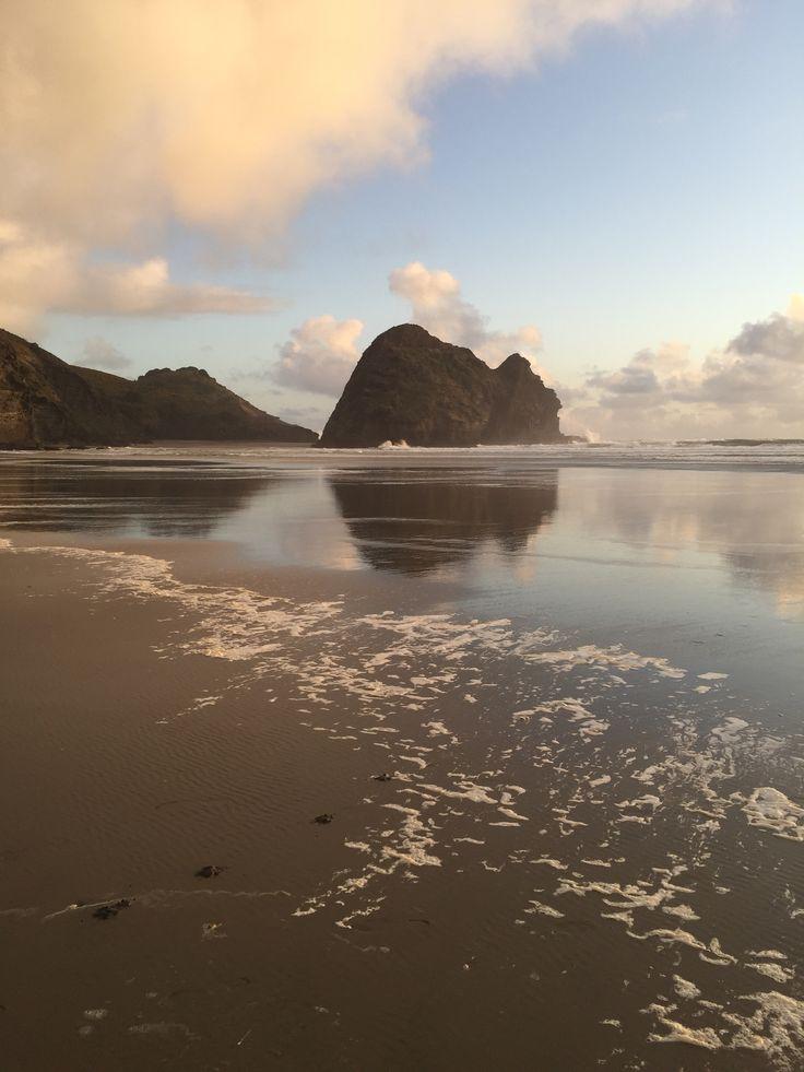 Piha black sand beach  North Island, NZ