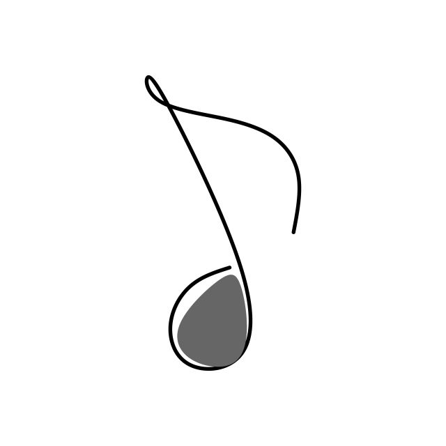 Continuous Line Images Note Music Linear Music Symbol Png And Vector With Transparent Background For Free Download Line Images Continuous Line Minimalist Drawing