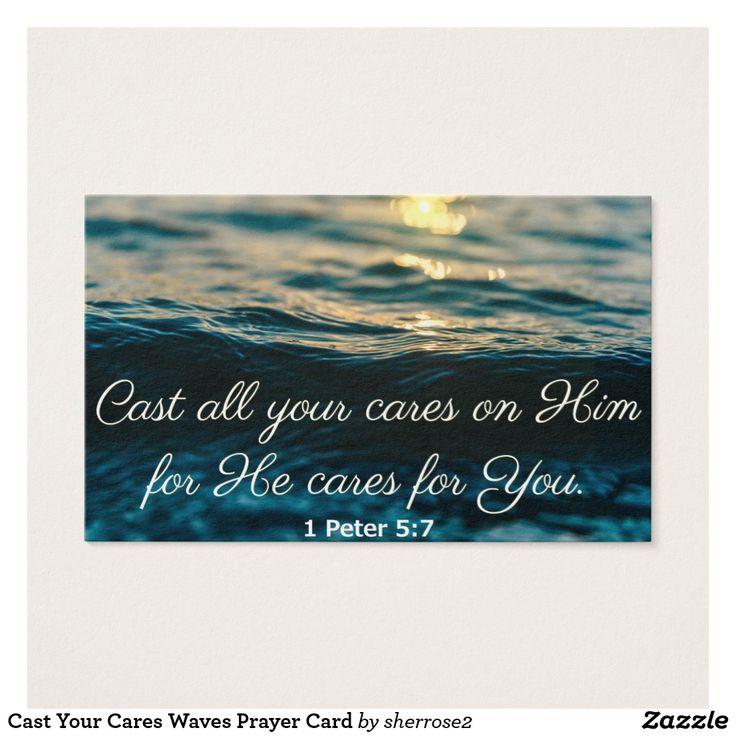 Cast Your Cares Waves Prayer Card