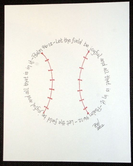 Baseball Psalm 96:12 for boys who love baseball. Awesome.