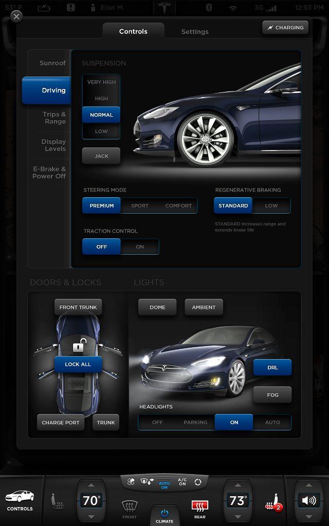 "Tesla Model S 17"" Touchscreen - Killahgrafikz™   Kevin Hsieh - Art Direction & UI Design"