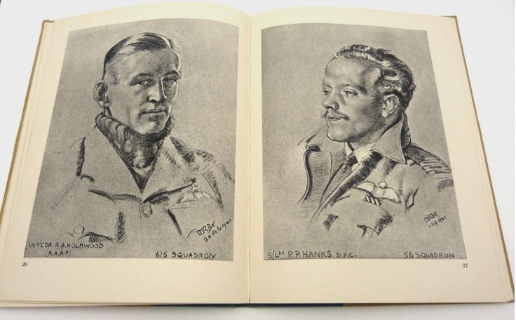 Pilots of Fighter Command - Cuthbert Orde's fine sketches of the pilots of the Battle of Britain, 1942, first edition.