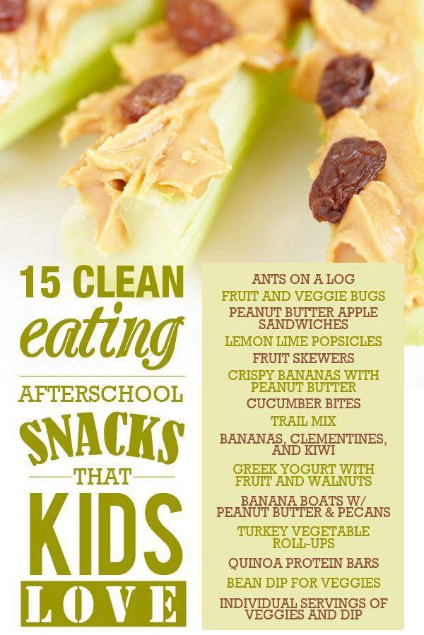 15 Clean Eating Snacks that Kids Love! #SkinnyMsMom