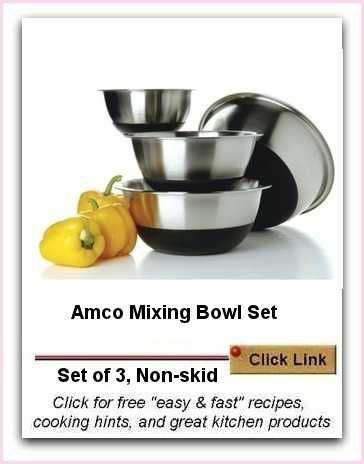 Amco Mixing Bowl Set | Non-slip Set of 3. The best feature is the non slip base.
