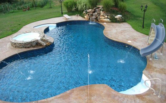 Inground Salt Water Pools | Gunite Pools Fiberglass Pools Liners Covers Renovation Photo Gallery