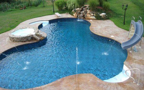 Inground Salt Water Pools | Gunite Pools Fiberglass Pools Liners Covers Renovation Photo Gallery