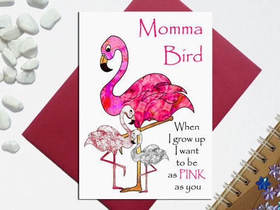 Flamingo mother's day card  Witty Flamingo card  Funny