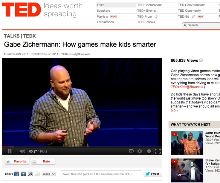 how video games can make kids smarter by gabe zichermann For teachers interested in gamification gabe zichermann: how games make kids smarter: check out gabe zichermann's ted talk to find out how video games can.