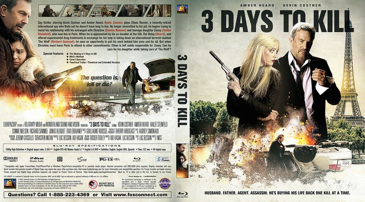 3 Days to Kill Blu-ray Custom Cover