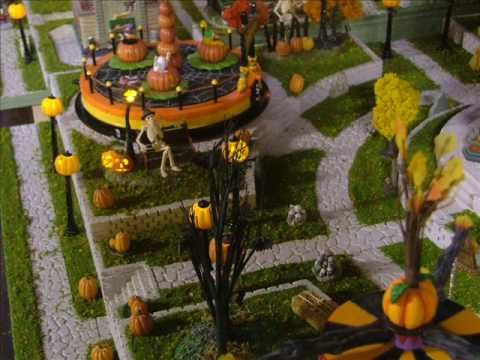 dept 56 halloween village display final scream amusement park expanded