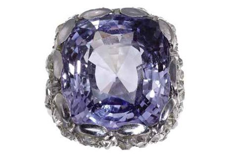 The Collection of Elizabeth Taylor   Christie's. a A Belle Époque Lavender Sapphire, diamond and Platinum Ring. Price Realized: $ 48,000