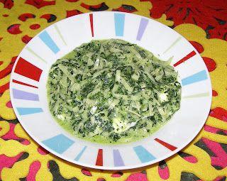W Mojej Kuchni Lubię.. : makaron w sosie szpinakowym...
