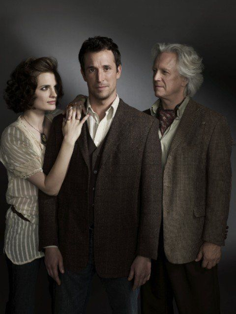 Still of Bruce Davison, Noah Wyle and Stana Katic in The Librarian: The Curse of the Judas Chalice (2008)