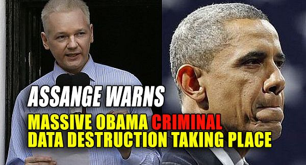 "Another warning has been issued by Julian Assange of an unknown number of crimes that are occurring now, across the Obama criminal operation, the elimination of evidence of their crimes through the destruction of public records. Assange is offering a $30,000 reward to any regime employee publicly exposing the official destruction of such information. In a Monday interview, he said more needs to be done to protect those valuable records. Assange was asked, ""What is the most important thing…"