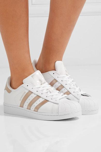 adidas Originals - Superstar Matte And Metallic-leather Sneakers - White - US10.5