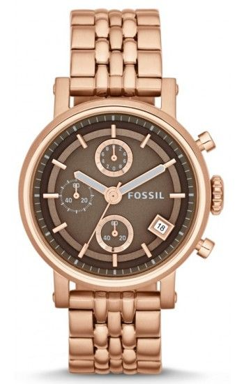 Fossil Original Boyfriend Chronograph Rose Gold Tone Womens Watch ES3494