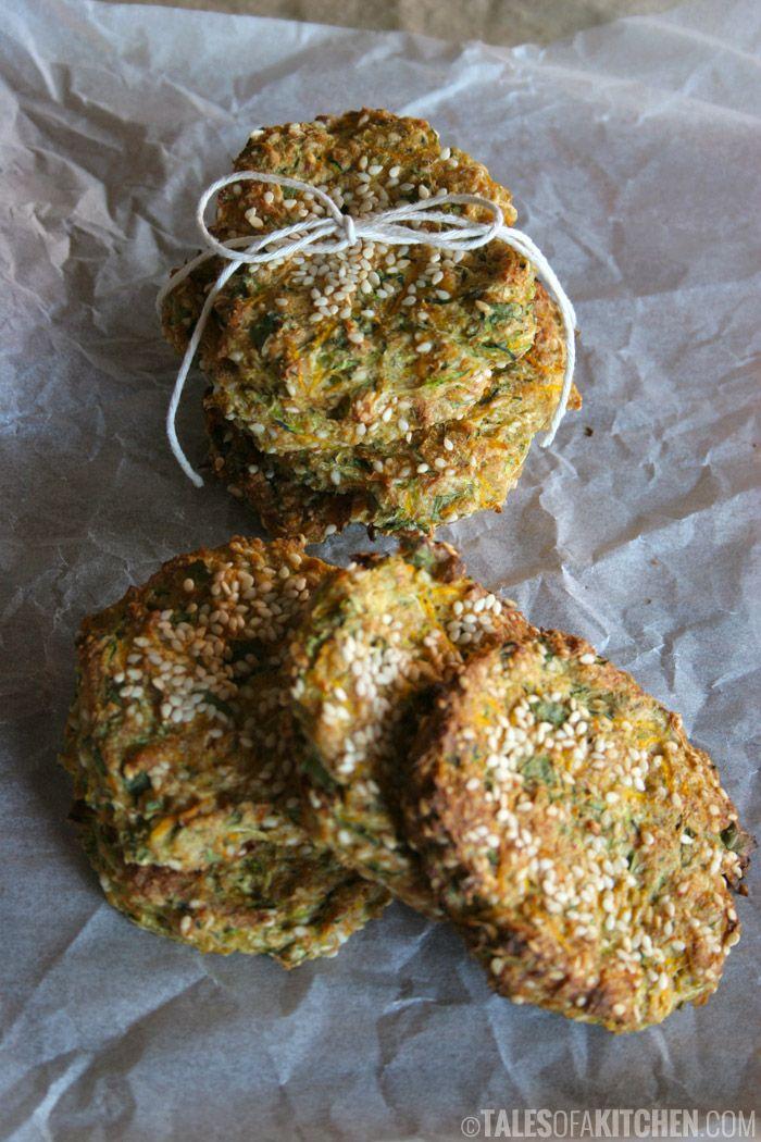 Zucchini carrot kale savory 'cookies'