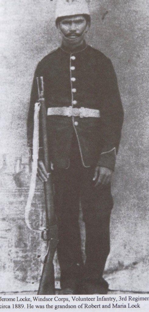 Jerome Locke, Windsor Corps, grandson of Maria Locke, 1889