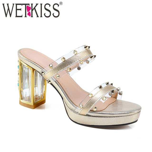eb6020e7e Source China Shoes Factory Cheap Wholesale Latest Design Slipper Sandal  Luxury Transparent High Heel Summer Lady Slipper with Crystal on  m.alibaba.com
