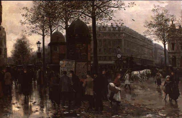 Paris Street Scene.by Ulpiano Checa