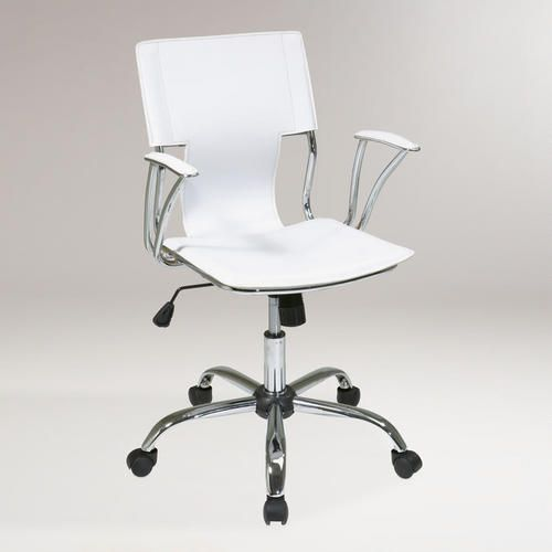 One of my favorite discoveries at WorldMarket.com: White Ethan Office Chair