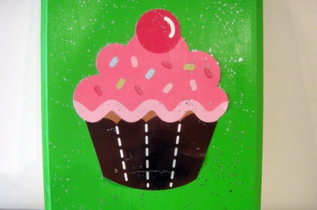 74 best images about cupcake wall art on pinterest for Cupcake wall art